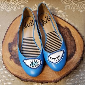 DOLCE VITA | BALLET FLATS EYES EMBELLESHED BLUE 7